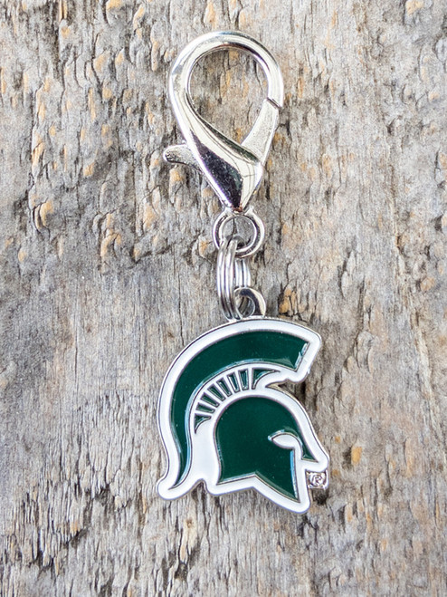 Michigan State Spartans dog collar charm by diva-dog.com