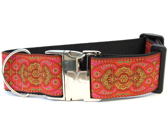 Medina Spice Wide Dog Collar