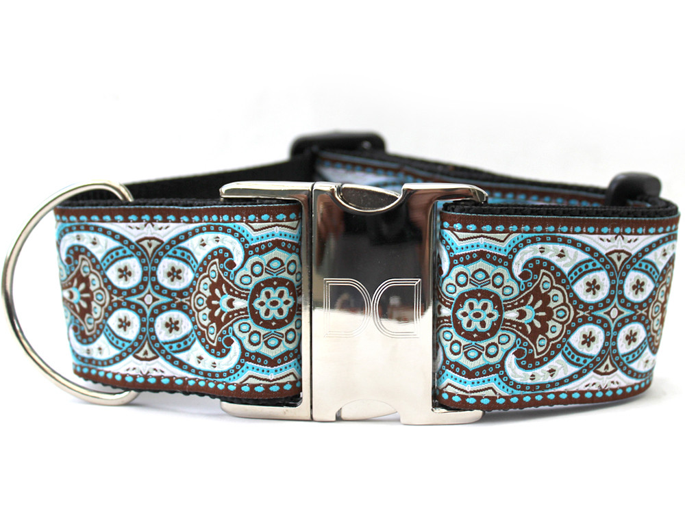 Corfu Sky Wide Dog Collar