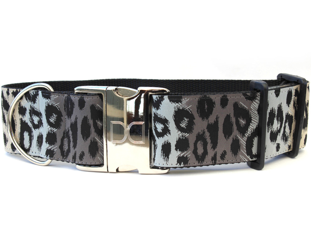 Midnight Leopard Dog collar