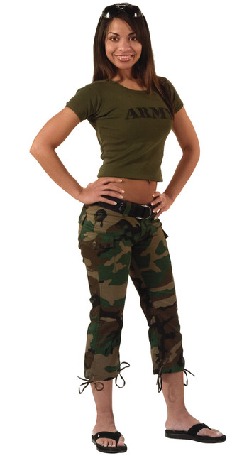 BUSH CAMO CAPRI PANTS