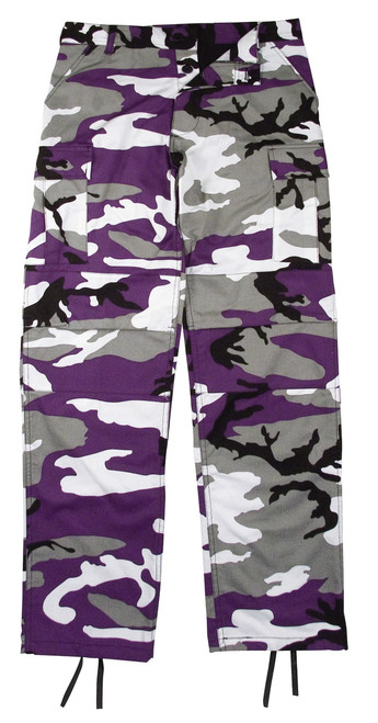 PURPLE CAMO BDU PANTS