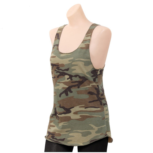 BUSH CAMO RACERBACK TANK TOP