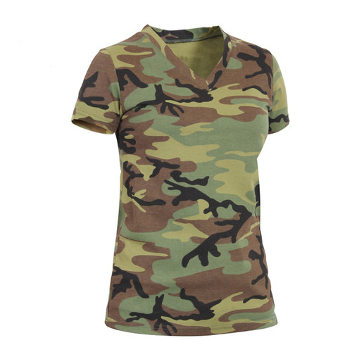 BUSH CAMO V NECK LONGER T SHIRT