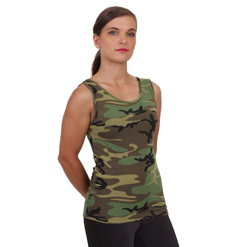 BUSH CAMO STRETCH TANK TOP
