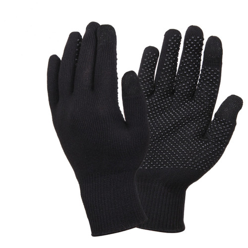 TOUCH SCREEN GLOVES WITH GRIPPER DOTS