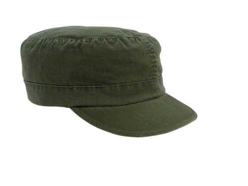 OLIVE ADJUSTABLE VINTAGE CAP