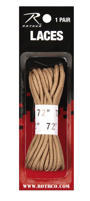 "DESERT TAN 72"" BOOT LACES"
