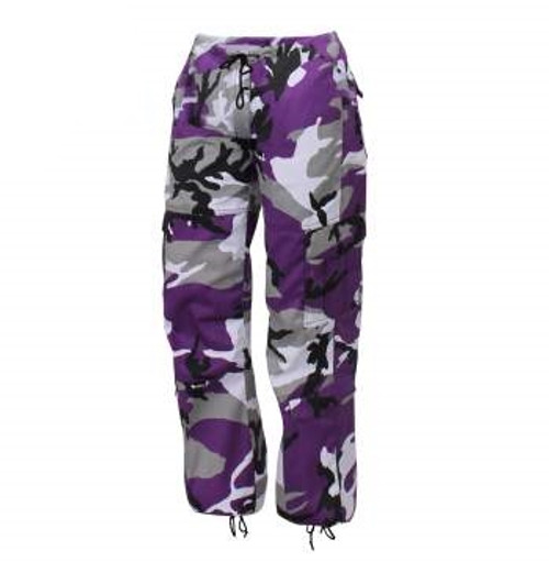 PURPLE CAMO PARATROOPER  BDU PANTS