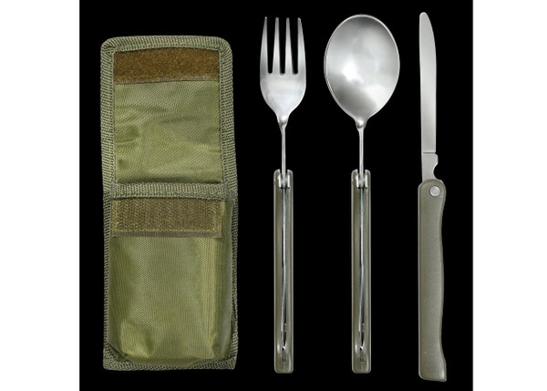 MILITARY CHOW SET WITH POUCH