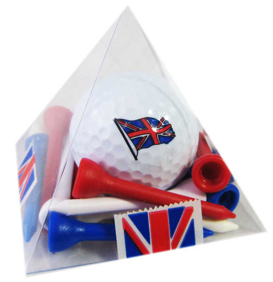 Acetate Pyramid, Balls   Tees - Union Jack