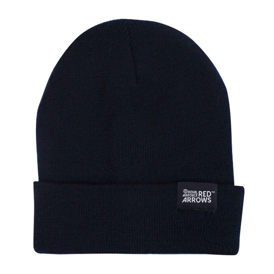 RAF Red Arrows (Turn up) Beanie Woven label - Navy