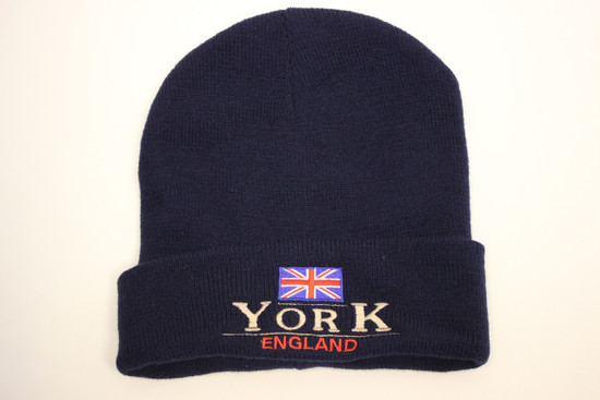 MC50 Emb Union Jack 2 Lines York Ski Hat - Navy