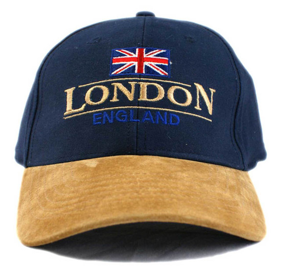 Union Jack London/England 2 Lines - Navy/Tan - Cap