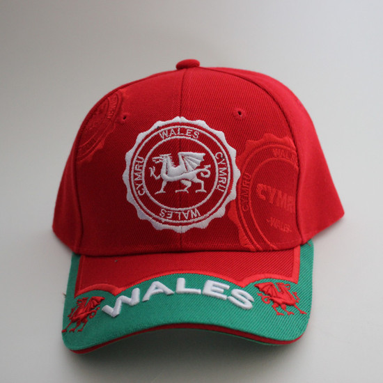 Wales 3D Stamp Cap - Red