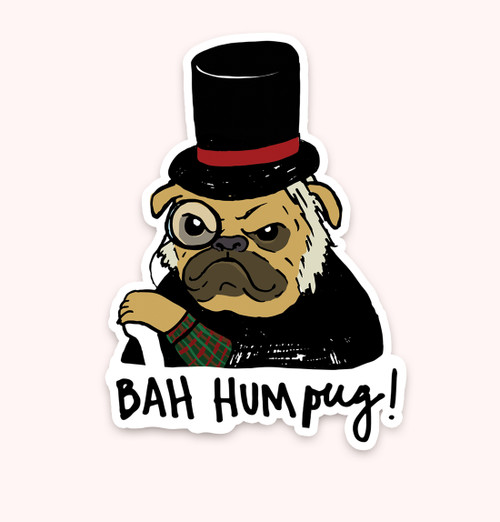 """Bah HumPug!"" Sticker"