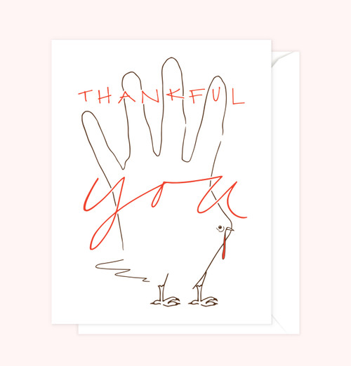 """Thankful 4 U"" Greeting Card"