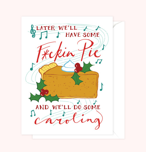 """Some Caroling"" Greeting Card"