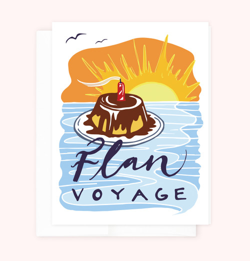 """Flan Voyage"" Greeting Card"