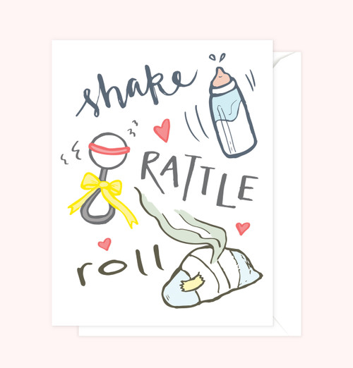 """Shake, Rattle, Roll"" Greeting Card"