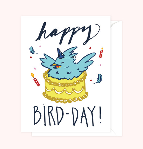 """Bird-Day"" Greeting Card"