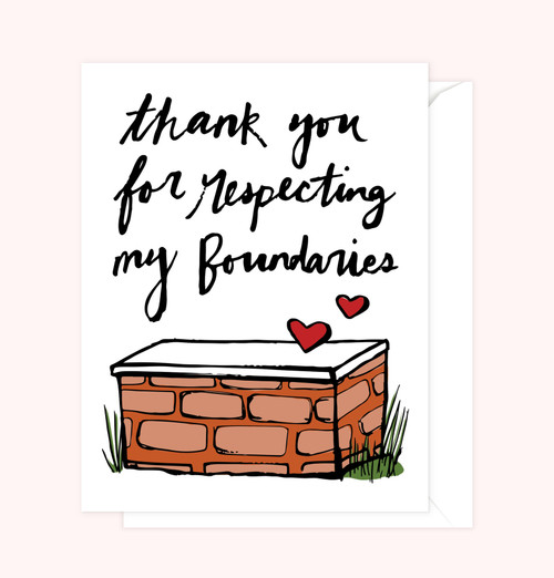 """Boundaries"" Greeting Card"