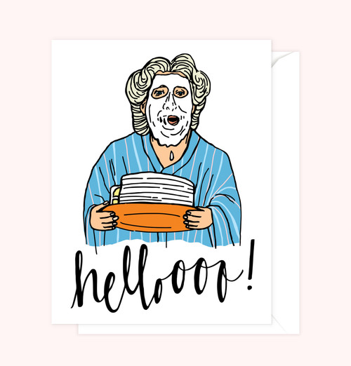 """Mrs. Doubtfire"" Greeting Card"