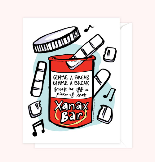 """Xanax Bar"" Greeting Card"
