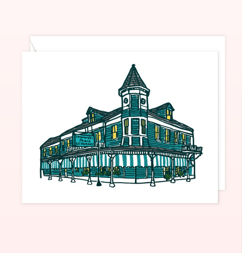 """Commander's Palace"" Greeting Card"