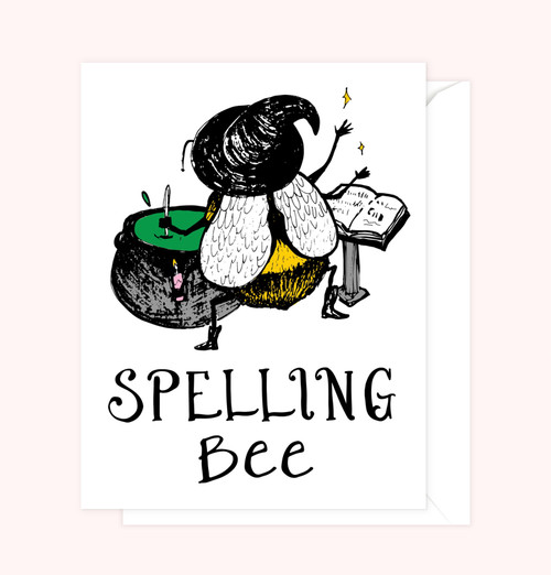"""Spelling Bee"" Greeting Card"