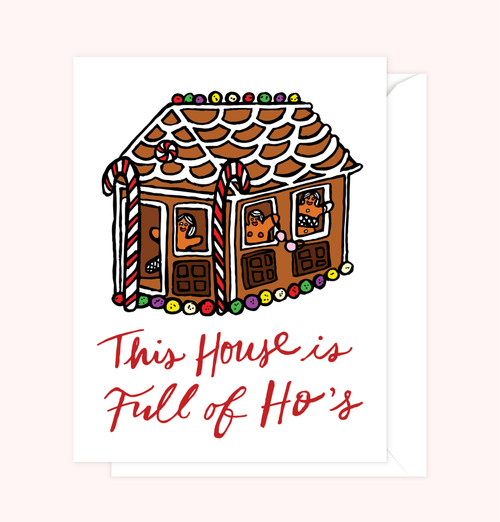 """Gingerbread Ho's"" Greeting Card"