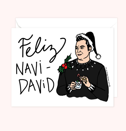 """Feliz NaviDavid Rose"" Greeting Card"