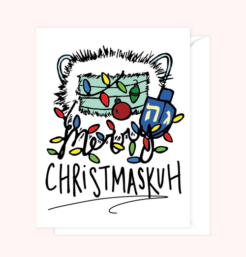 """Merry Christmaskuh"" Greeting Card"
