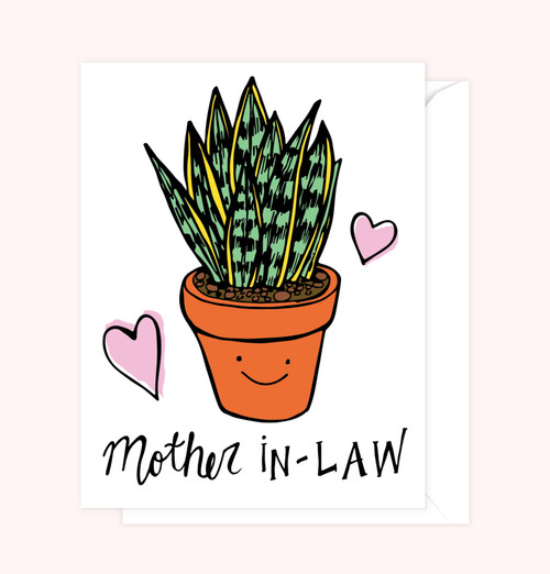 """Mother-In-Law"" Greeting Card"