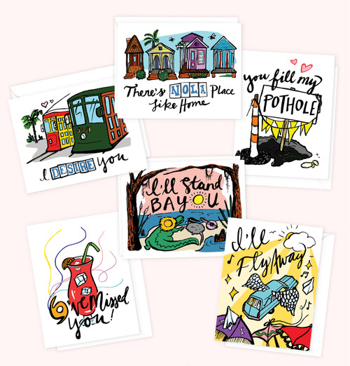 """""""There's NOLA Place Like Home"""" 6-Card Pack"""