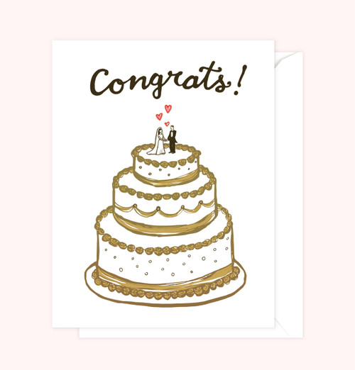 """Congrats!"" Wedding Card"