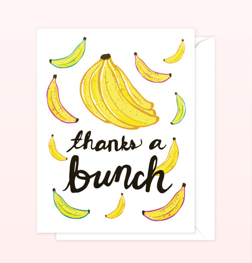 """Thanks a Bunch"" Greeting Card"