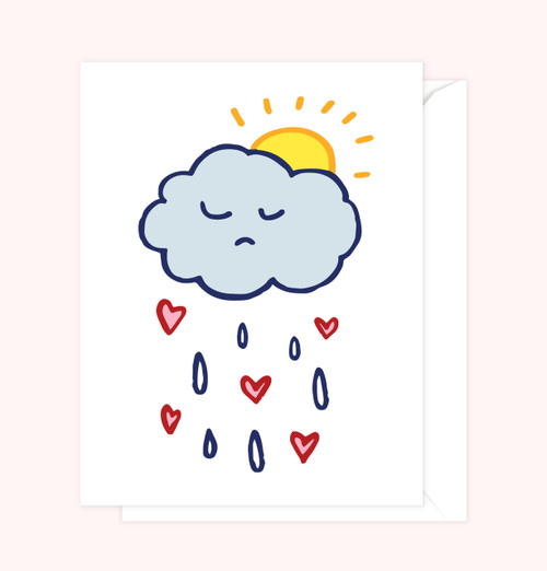 """Sad Cloud"" Greeting Card"