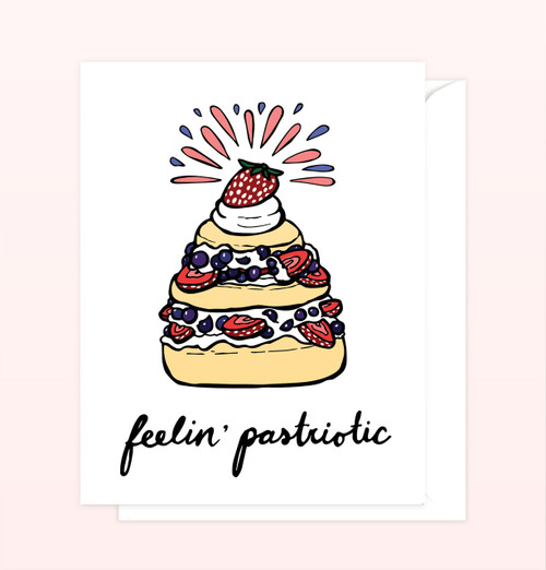 """Feelin' Pastriotic"" Greeting Card"