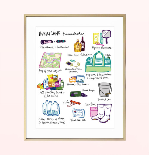 """Hurricane Essentials"" Print"