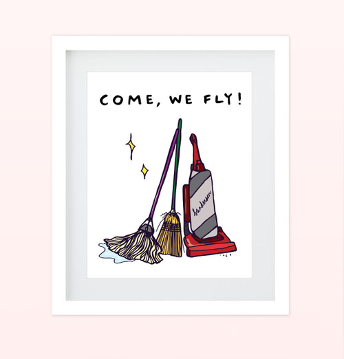 """Come We Fly"" Print"