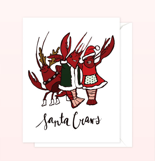 """Santa Craws"" Greeting Card"