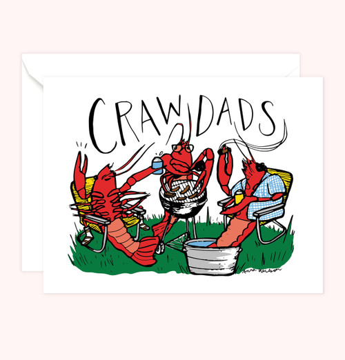 """Crawdads"" Greeting Card"