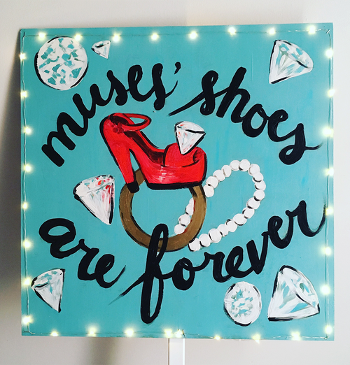 """Muses' Shoes Are Forever"" Original Painting - SOLD"