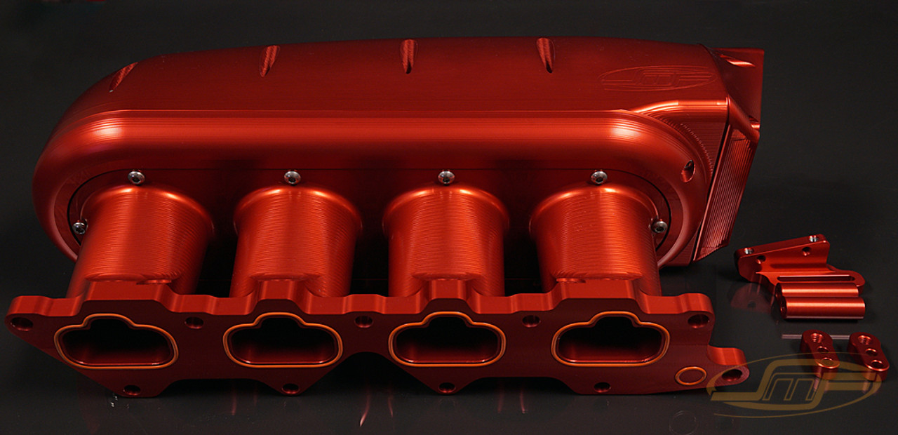 Shown anodized red