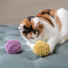 Our BIG Wool Dust Bunny-Now in Pastels! A Natural Wool Cat Ball Great for fetching. Bouncy and Washable. Catnip free. Plastic Free too!