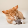 """Our """"Dust Bunnies"""" are Natural Felted Wool Balls for Cats. Cats love them because they are fun to bounce and fetch. Washable."""