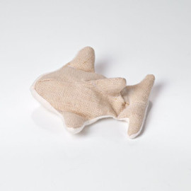 Hemp Dog Toy: Small Ollie's Orca/ Natural fetch toy for smaller dog/ Washable/ Double layers of hemp canvas. Plastic and dye free. USA made
