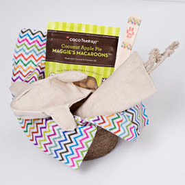 Gift basket for dogs.  Organic dog toys. Natural Hemp and Certified organic Cotton-- no plastics or synthetics! Made with love in the USA.  Purrfectplay.com