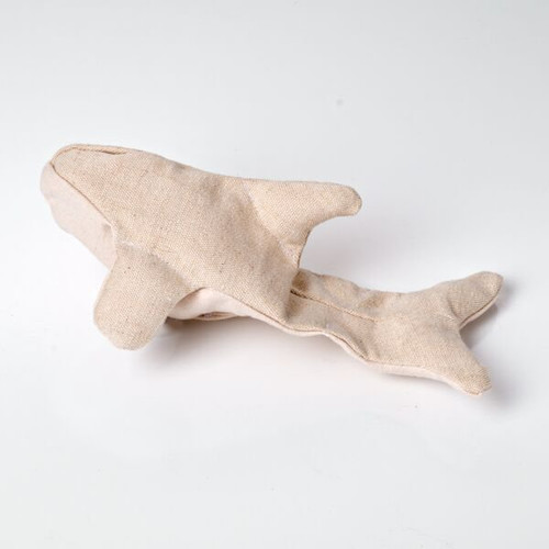 Hemp dog toy.  Made in the USA. Ollie's Orca.